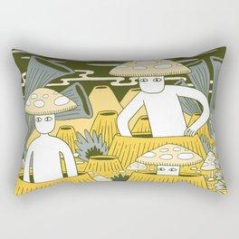 Mushroom Men Rectangular Pillow