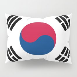 South Korean flag - officially the Republic of Korea, Authentic version - color and scale Pillow Sham