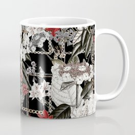 Artistic Vintage Mix Flowers With Chains Coffee Mug