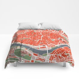 Seville city map classic Comforters
