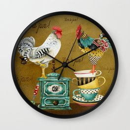 Roosters Majestic Wall Clock