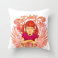 dirty dancing Throw Pillows featuring Dirty by Tshirt-Factory