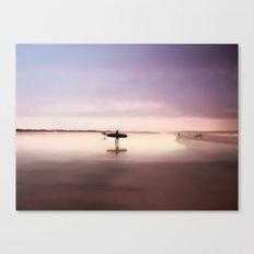 Pink Surf Canvas Print