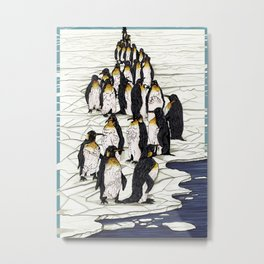 Democraty for Penguins Metal Print