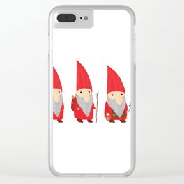 Gnomes Clear iPhone Case