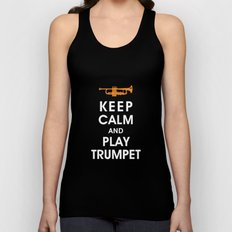 Keep Calm and Play Trumpet Unisex Tank Top