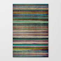 striped Canvas Prints featuring Striped by Sharon Johnstone