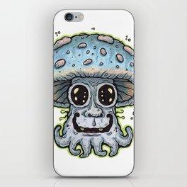 Blue Tentacle Toadstool iPhone Skin