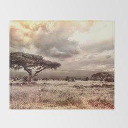 African Savannah Throw Blanket