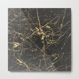 Marble Black Gold - Young Forever Metal Print