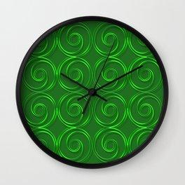 Abstract circles green illustration. Wall Clock