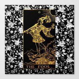 The Fool - A Floral Tarot Print Canvas Print