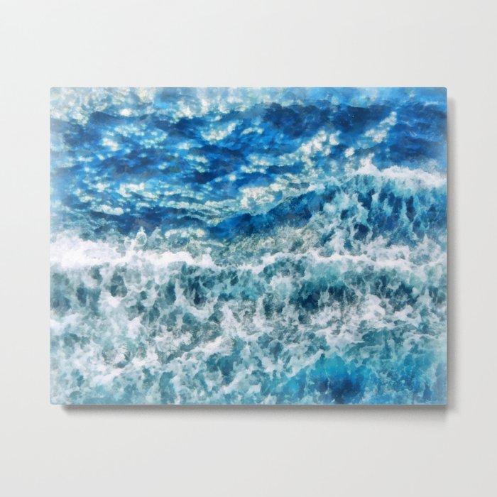 Sea foam waves Metal Print
