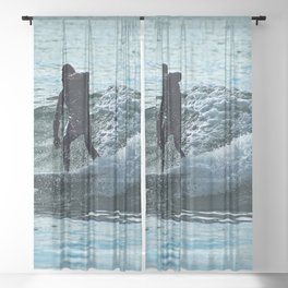 Watersport Surfing Wave  Surfer Sea Sheer Curtain