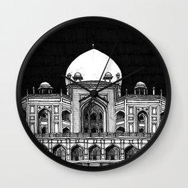 Humayun's Tomb (Charcoal) Wall Clock