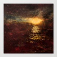 italian Canvas Prints featuring Italian Sunset  by Brianna Clare