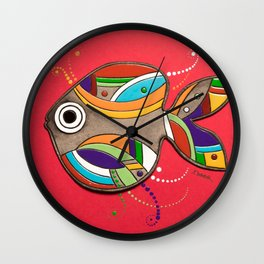 Fish which fulfills three wishes Wall Clock