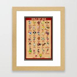World Cup 2018 Russia Team Mascots Poster Framed Art Print