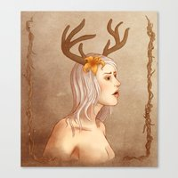antlers Canvas Prints featuring Antlers by Allie Fritsch