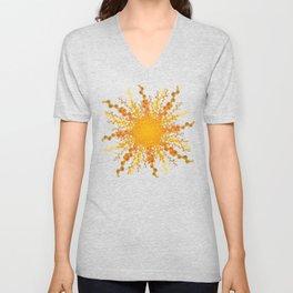 Summer Heat golden sun Unisex V-Neck