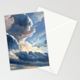 Simon Alexandre Clément Denis Study of Clouds with a Sunset near Rome Stationery Cards