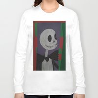 nightmare before christmas Long Sleeve T-shirts featuring JACK SKELLINGTON/NIGHTMARE BEFORE CHRISTMAS by Kathead Tarot/David Rivera