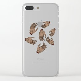 Staying warm Clear iPhone Case