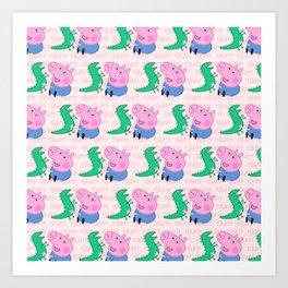 Peppa Pg Pattern 04 Art Print