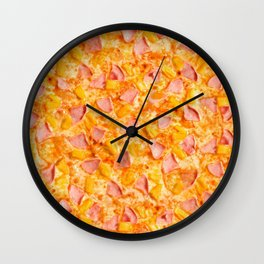 Pineapple Pizzas are People Too. Wall Clock