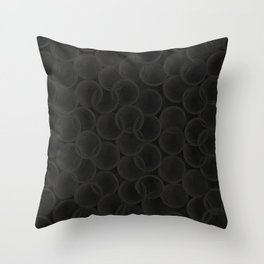 Black spiraled coils Throw Pillow