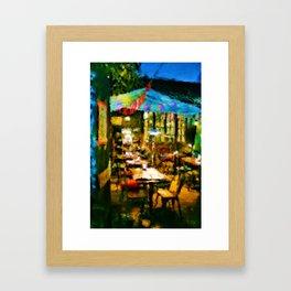 The Cafe Framed Art Print
