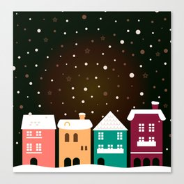 Christmas snowing town / Product designs edition 2016 Canvas Print