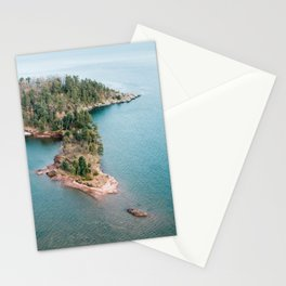 Sky View of Little Presque Island Stationery Cards