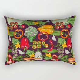Vegetable Farm Pattern Rectangular Pillow