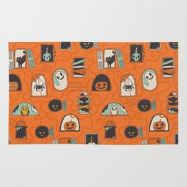 Halloween windows Rug