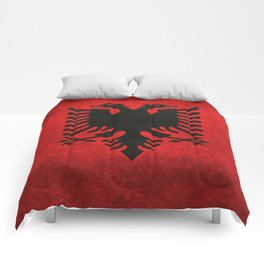 "National flag of Albania - in ""Super Grunge"" Comforters"