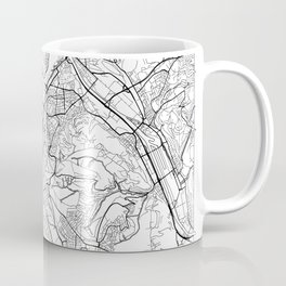 Stuttgart Map White Coffee Mug