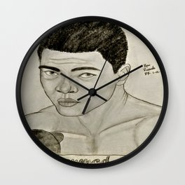 Ali by Ryan Reynolds Wall Clock