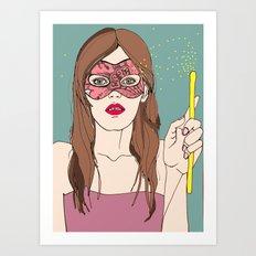 The magic of the mask Art Print
