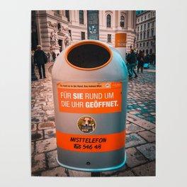 Useful Trash Bin Poster