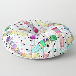 Retro 80's 90's Neon Colorful Push Candy Pop Floor Pillow