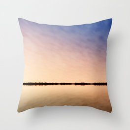 rider horse silhouette skyline sky Throw Pillow