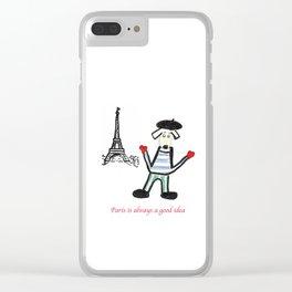 Paris is alway a good idea Clear iPhone Case