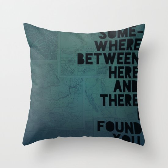 Here & There II Throw Pillow