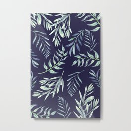 Floating Leaves Blue 2 #society6 #buyart Metal Print