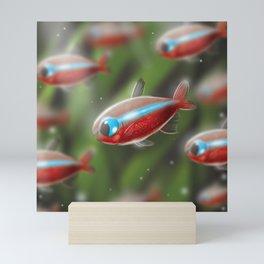 Cardinal tetra Mini Art Print