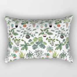 plants and pots pattern Rectangular Pillow