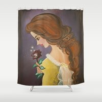belle Shower Curtains featuring Belle by carotoki art and love