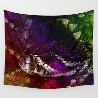 interstellar Wall Tapestries featuring Interstellar Snake by Distortion Art
