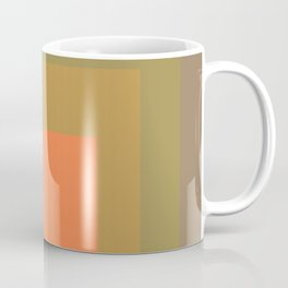 Block Colors - Muted Earthy Tones and Bright Orange Coffee Mug